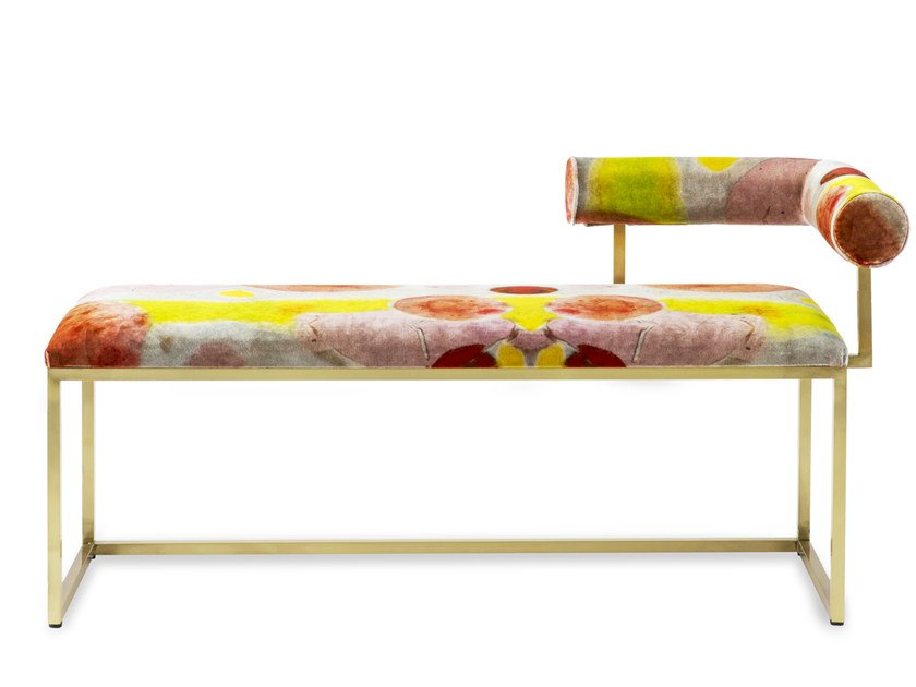 Upholstered bench with back L | Bench by Secondome Edizioni