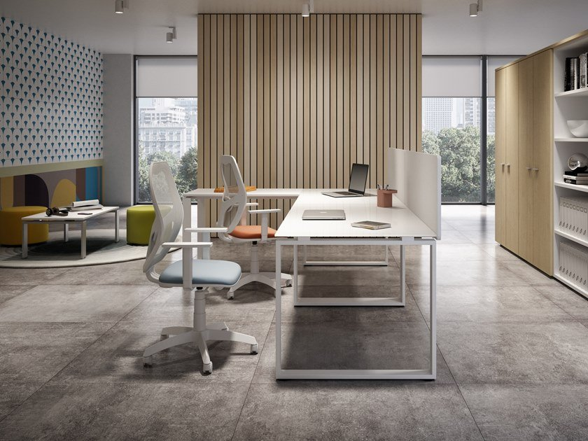 L-shaped office workstation RING | L-shaped office workstation by CUF Milano