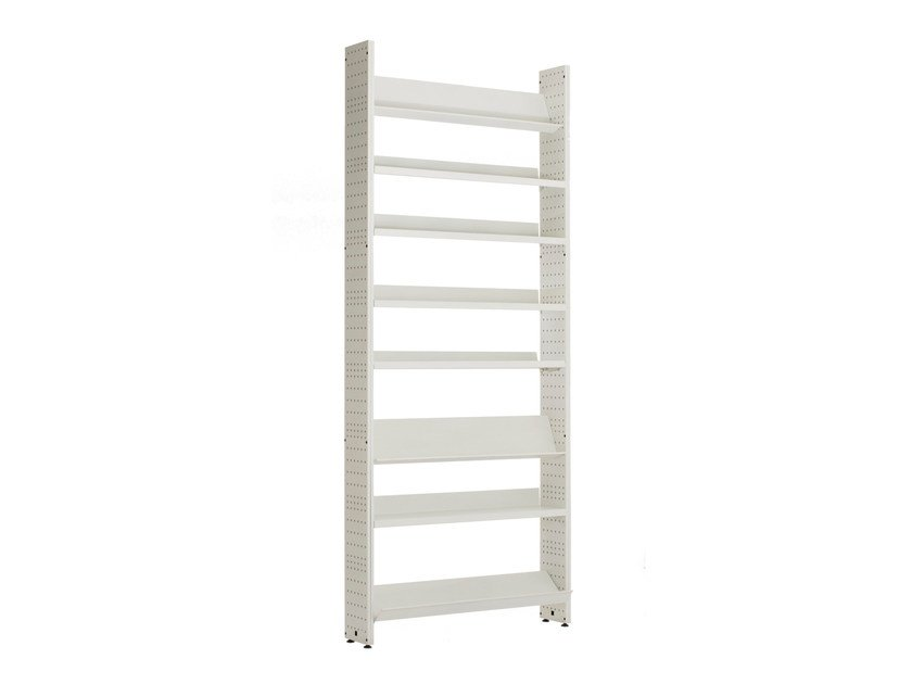 Open modular bookcase L,UNICA WHITE METAL by lunicalibreria