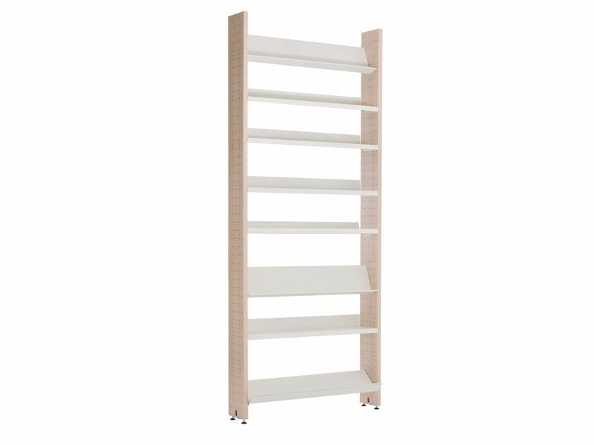 Open modular bookcase L,UNICA LIGHT WOOD by lunicalibreria