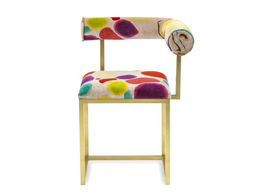 Upholstered velvet chair L | Upholstered chair by Secondome Edizioni