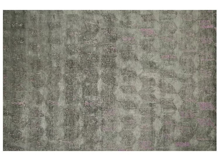 Patterned handmade Bamboo silk rug LOFT L117A by Mohebban