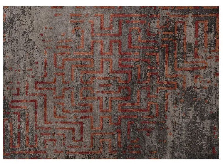 Patterned handmade Bamboo silk rug LOFT L157A by Mohebban