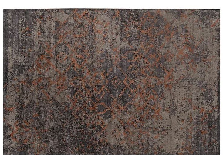 Patterned handmade Bamboo silk rug LOFT L174C by Mohebban