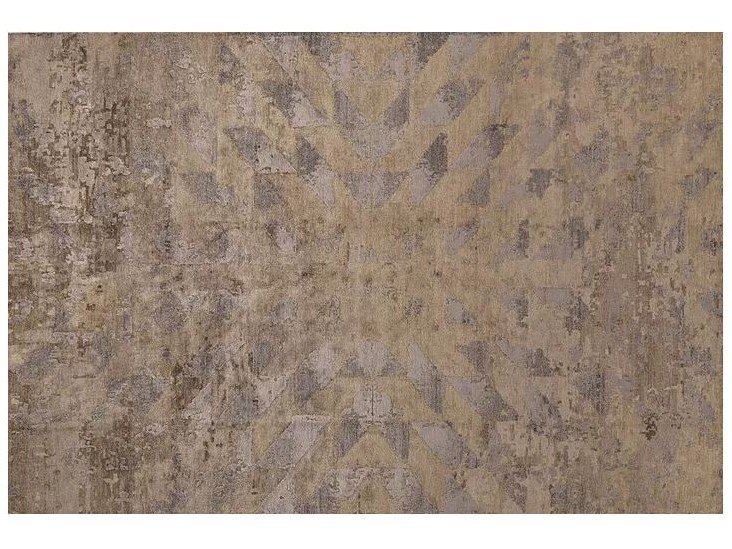 Patterned handmade Bamboo silk rug LOFT L217A by Mohebban