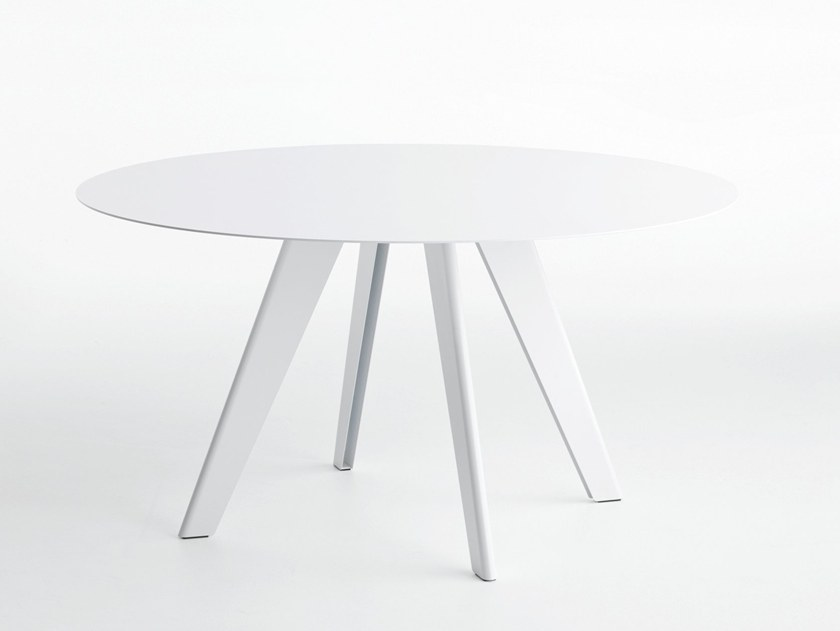 Round metal table L50 | Round table by LIGHTSON