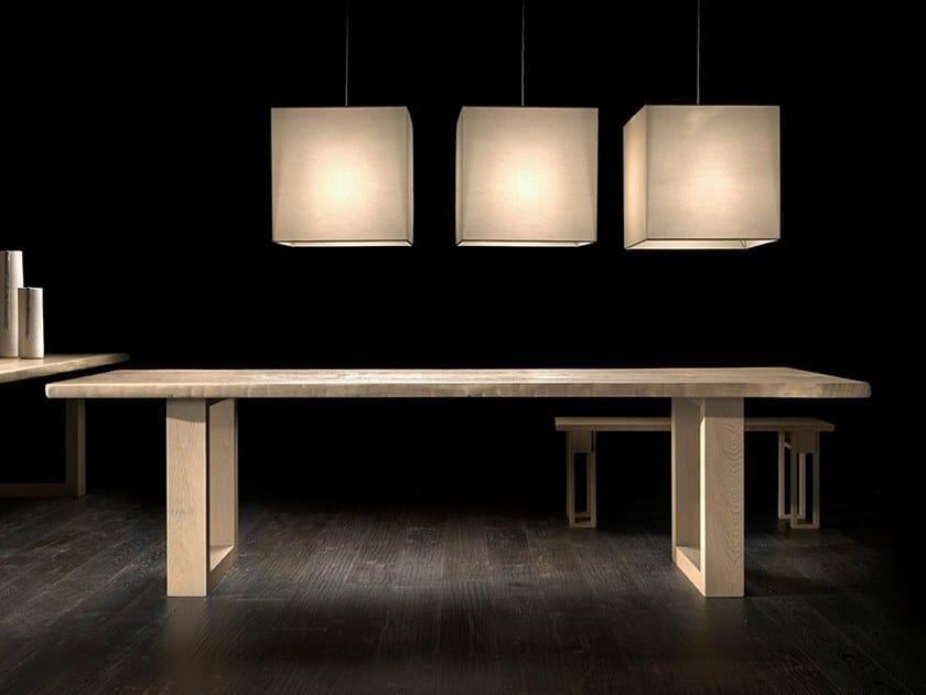 Rectangular oak table VERO L620   Oak table by Arte Brotto