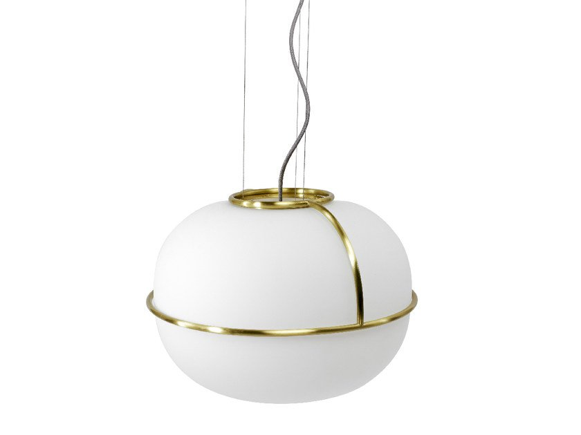 Sandblasted glass pendant lamp L88 | Pendant lamp by Monolithe Edition