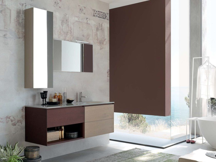 Single wooden vanity unit LA FENICE - COMPOSITION 13 by Arcom