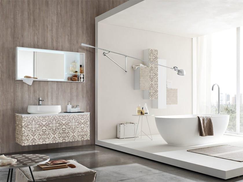 Bathroom cabinet / vanity unit LA FENICE DECOR - COMPOSIZION 23 by Arcom
