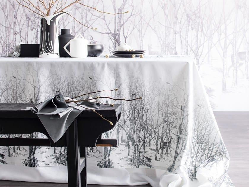 Cotton tablecloth LA FORÊT ENCHANTÉE by Alexandre Turpault