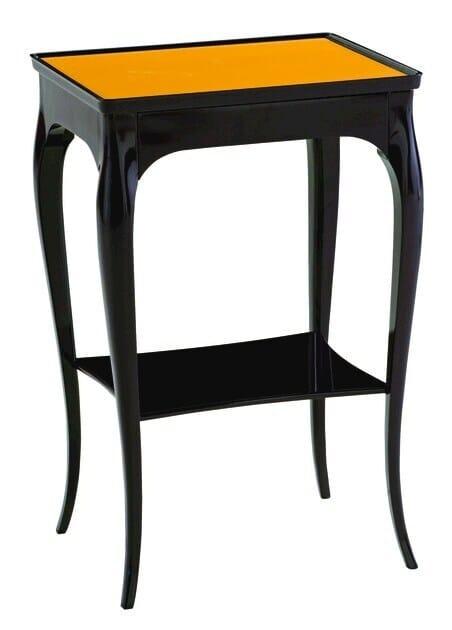 Lacquered rectangular solid wood side table A LA MANIÈRE DE by ROCHE BOBOIS
