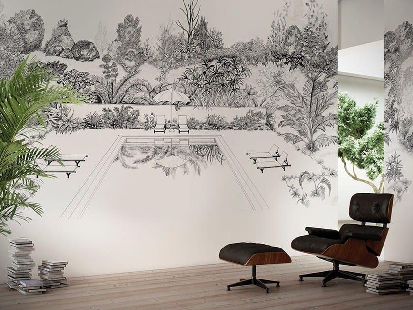Landscape wallpaper LA PISCINE by GLAMORA