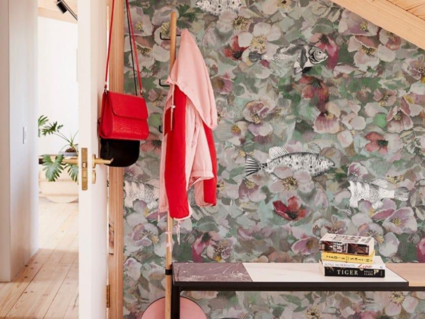 Carta da parati in tessuto non tessuto con motivi floreali LA VIE EN ROSE TS by Wall&decò