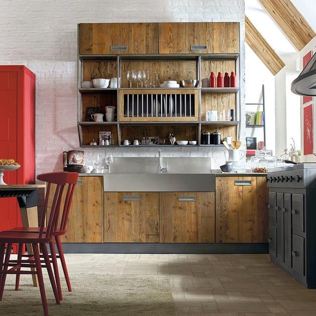 Cucina componibile in legno LAB 40 - COMPOSIZIONE 02 - Marchi Cucine