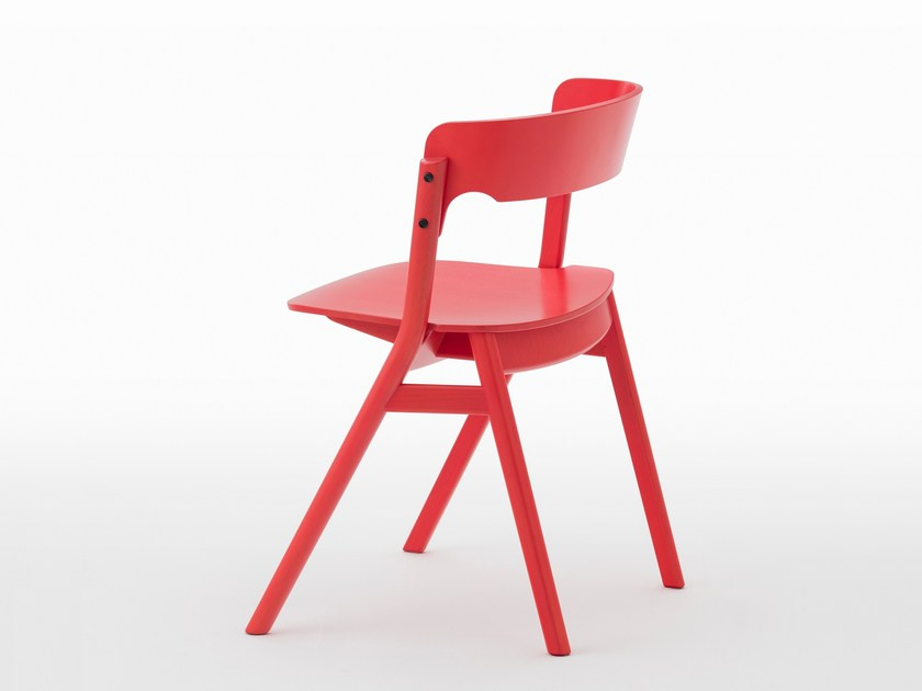 Lacquered wooden chair SALLY | Lacquered chair by MEETEE