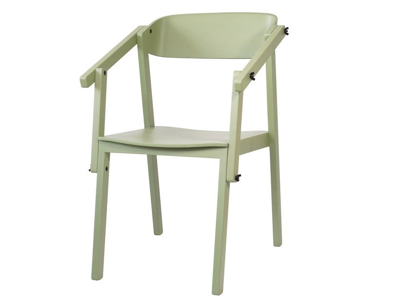 Lacquered oak chair ATELIER | Oak chair by UBIKUBI