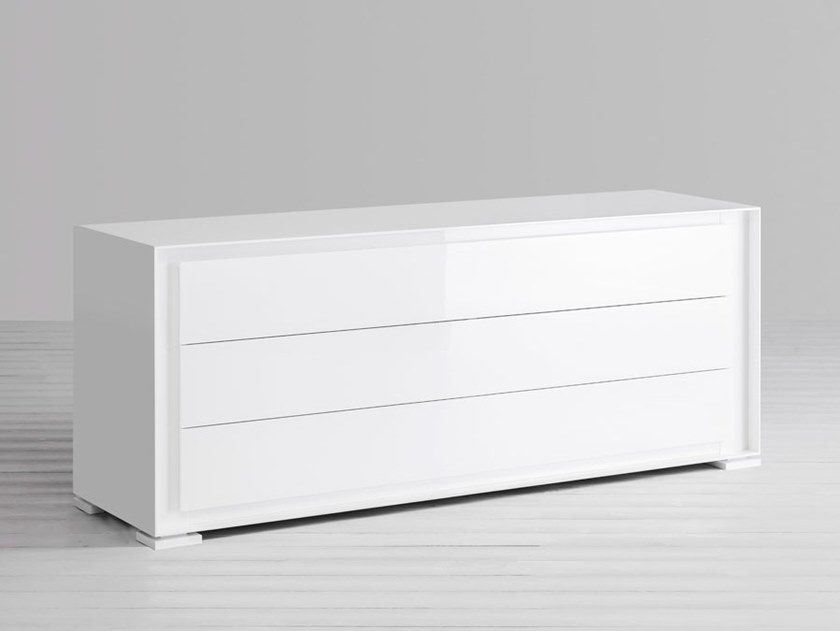 Chest of drawers with integrated handles PRIVACY | Lacquered chest of drawers by Capo d'Opera