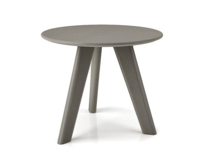 Lacquered round birch coffee table STUDIO | Lacquered coffee table by Huppé
