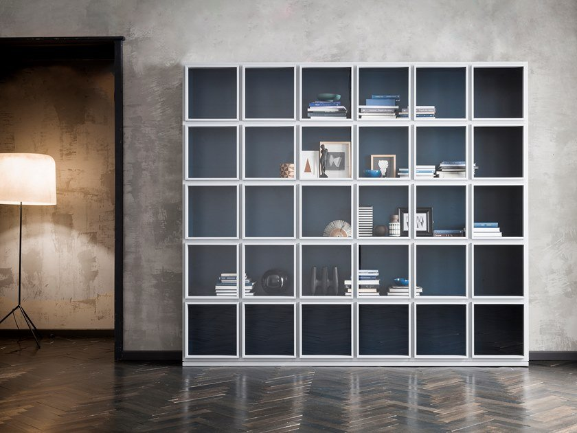 Wood and glass display cabinet CONCEPT | Lacquered display cabinet by Capo d'Opera