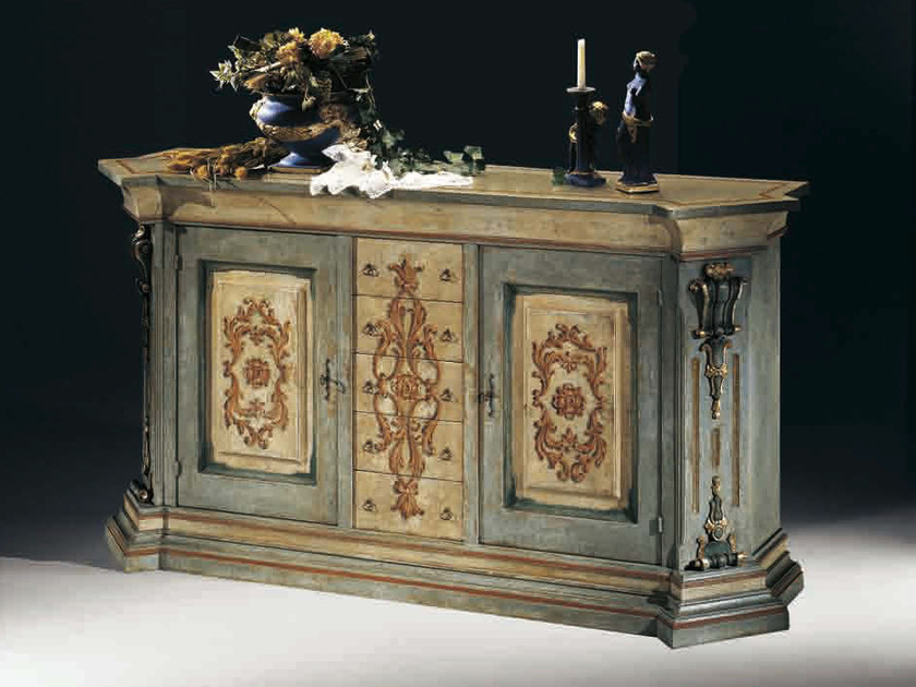 Solid wood sideboard with doors MACCHIAVELLI | Lacquered sideboard by Arvestyle