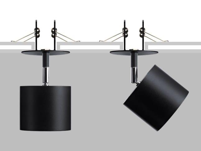 Proiettore orientabile da parete o soffitto in metallo LAD R10 by Flexalighting