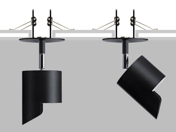 Proiettore orientabile da parete o soffitto in metallo LAD R10 WW by Flexalighting