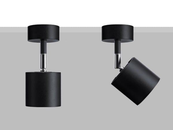 Proiettore orientabile da parete o soffitto in metallo LAD S6 by Flexalighting