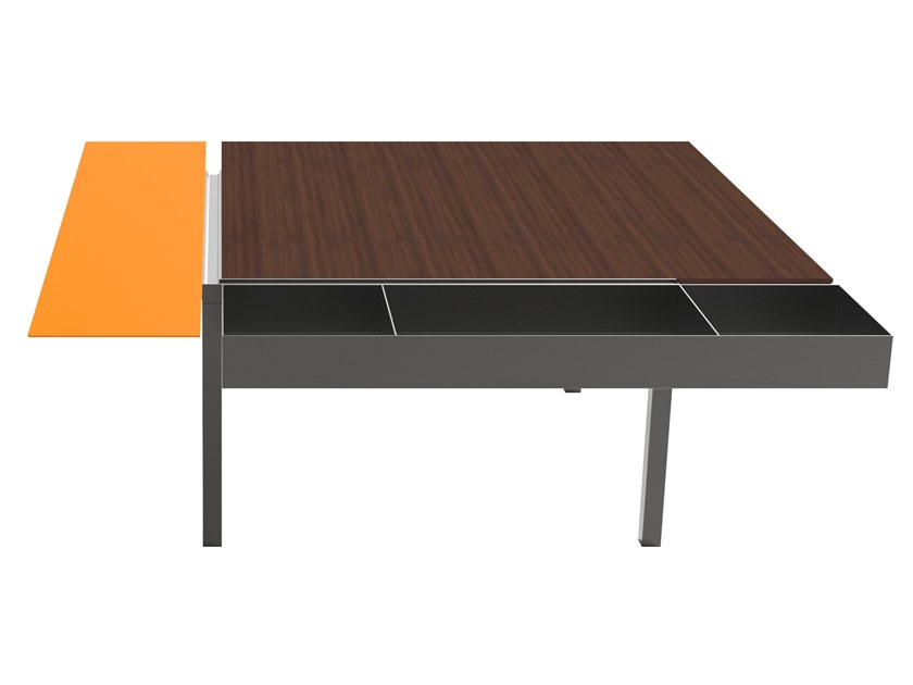 Low square coffee table with storage space LADIN | Coffee table by Busnelli