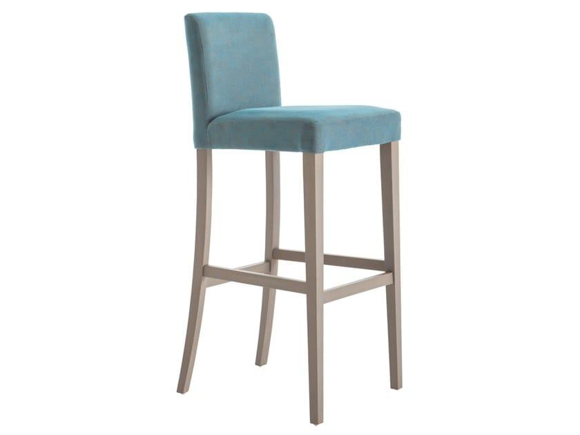 High beech stool with back LADY 47OGI.i4 by Palma