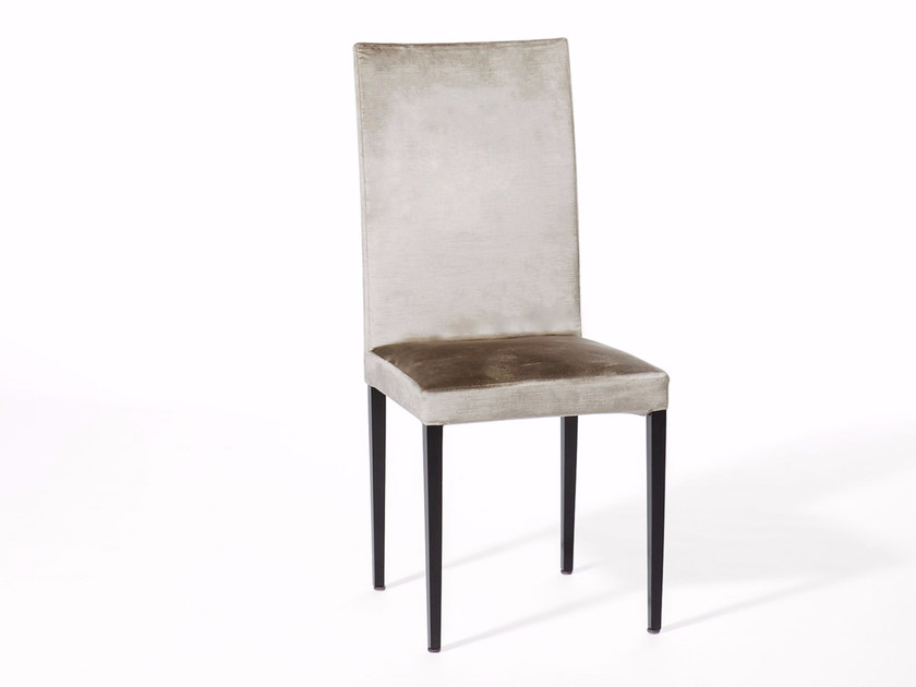 Upholstered velvet chair LADY B by Paolo Castelli
