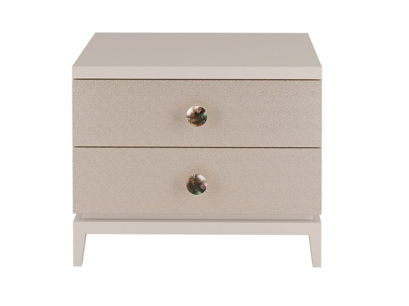 Lacquered rectangular wooden bedside table with drawers LAGOA | Bedside table by FRATO