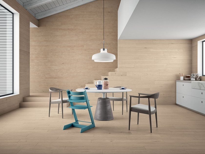 Porcelain stoneware wall/floor tiles with wood effect LAGOM NATURAL LIGHT by Marca Corona