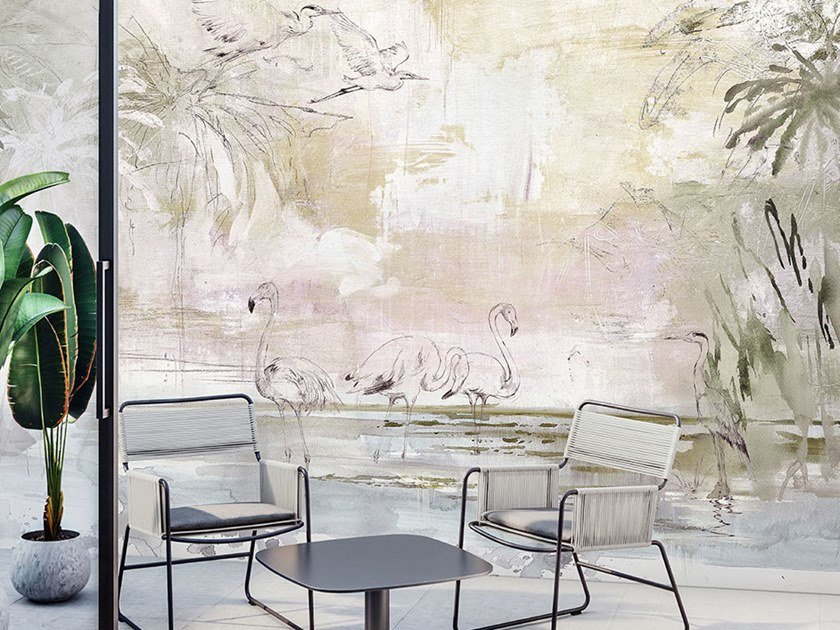 Papel de parede ecológico lavável livre de PVC LAGOON by WallPepper®/Group
