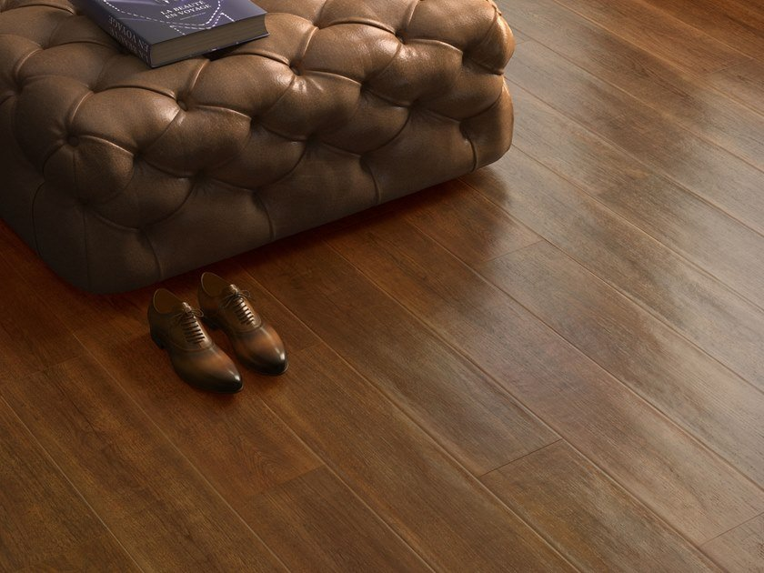 Porcelain stoneware wall/floor tiles with wood effect LAKEWOOD BURNT by CERAMICA SANT'AGOSTINO