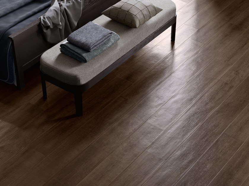 Porcelain stoneware wall/floor tiles with wood effect LAKEWOOD MOKA by CERAMICA SANT'AGOSTINO