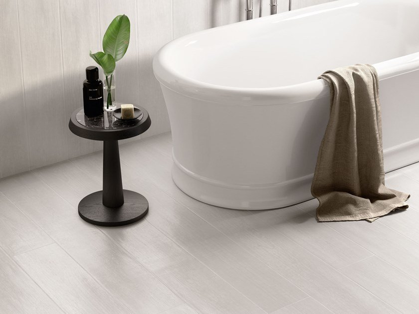 Porcelain stoneware wall/floor tiles with wood effect LAKEWOOD WHITE by CERAMICA SANT'AGOSTINO