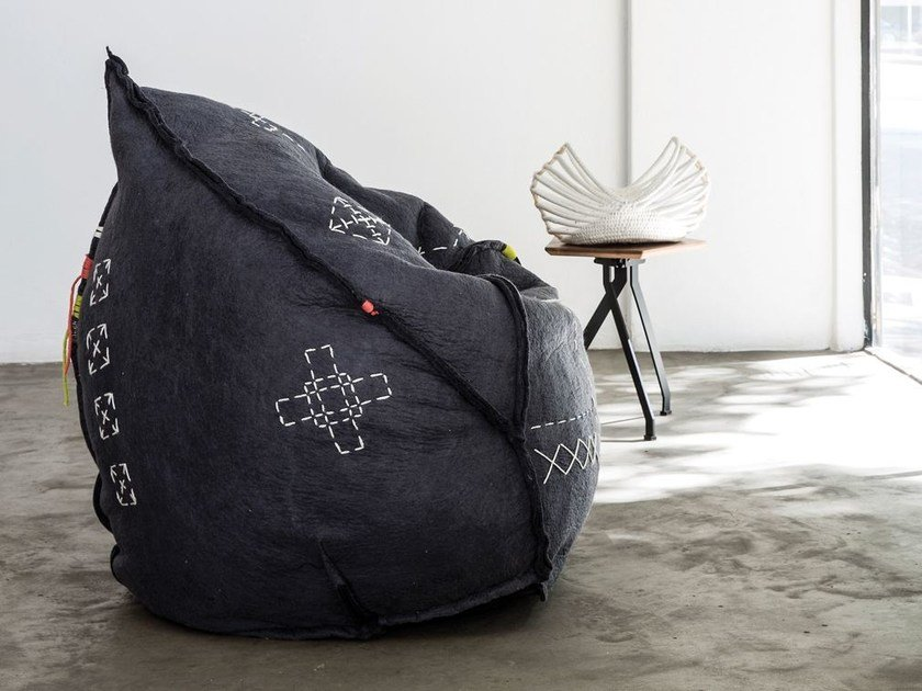 Wool felt bean bag LALIBELLA CHAIR by Ronel Jordaan™