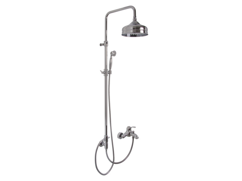Wall-mounted shower panel with overhead shower LAMP F3304/2 | Shower panel by FIMA Carlo Frattini