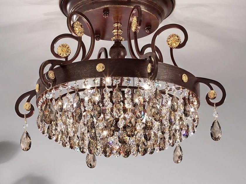 Lampada da soffitto a luce diretta in metallo con cristalli Swarovski® ALLURE | Lampada da soffitto by Masiero