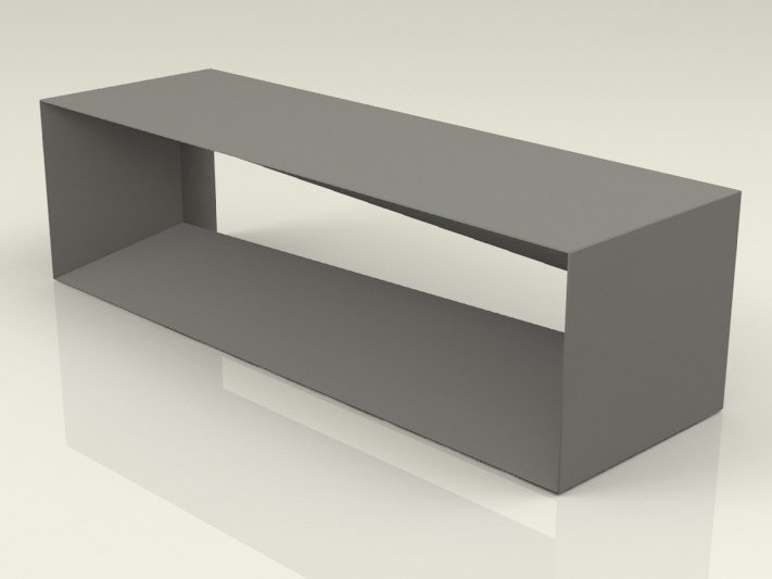 Backless galvanized steel Bench LAMY by Manufatti Viscio