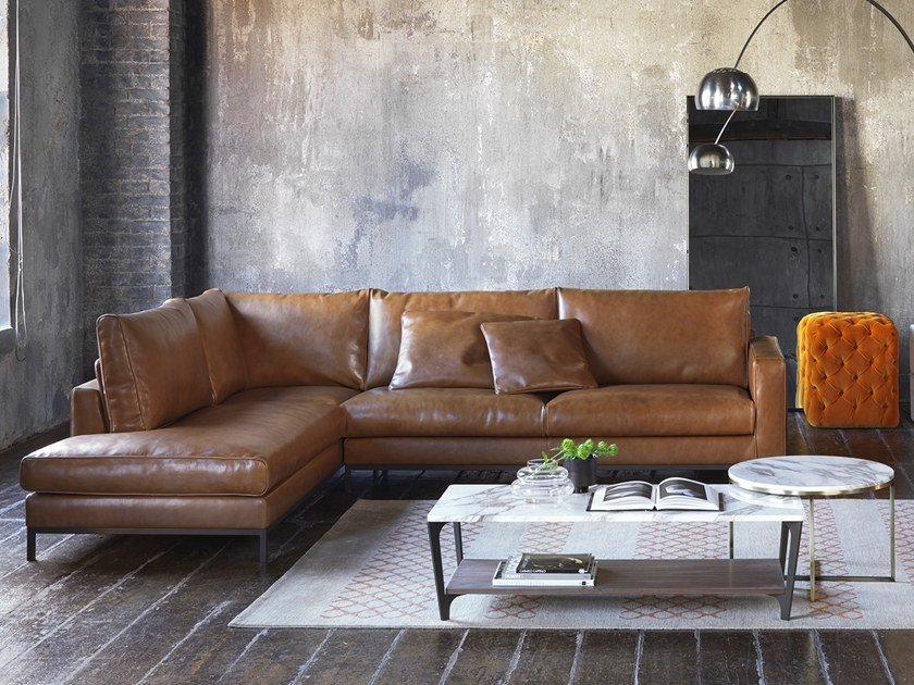 Corner Leather Sofa Lancaster By Marelli