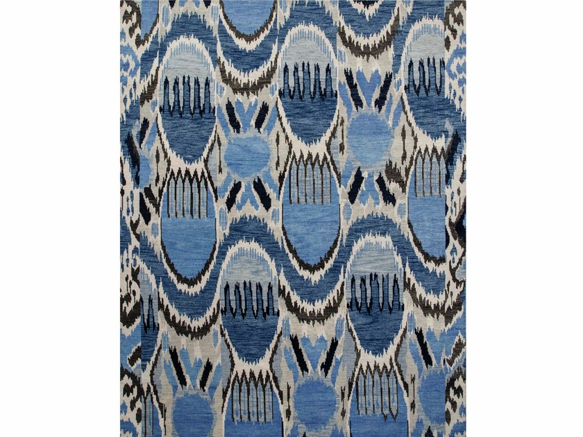 Wool rug LANCIA LCA-09 Antique White/Evening Blue by Jaipur Rugs