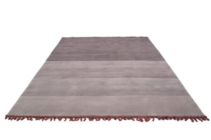 Handmade rectangular striped rug LAND by Bodema