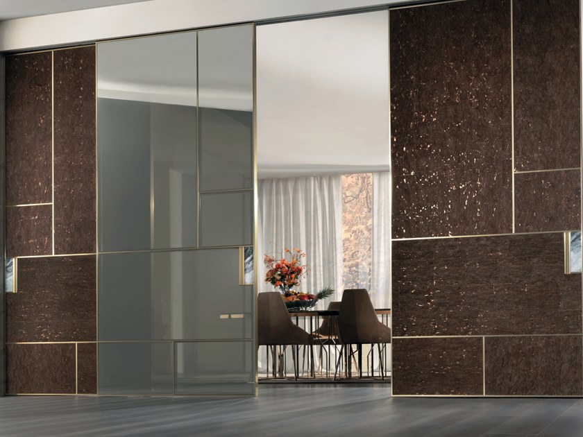 Glass sliding door LAND | Glass door by Longhi