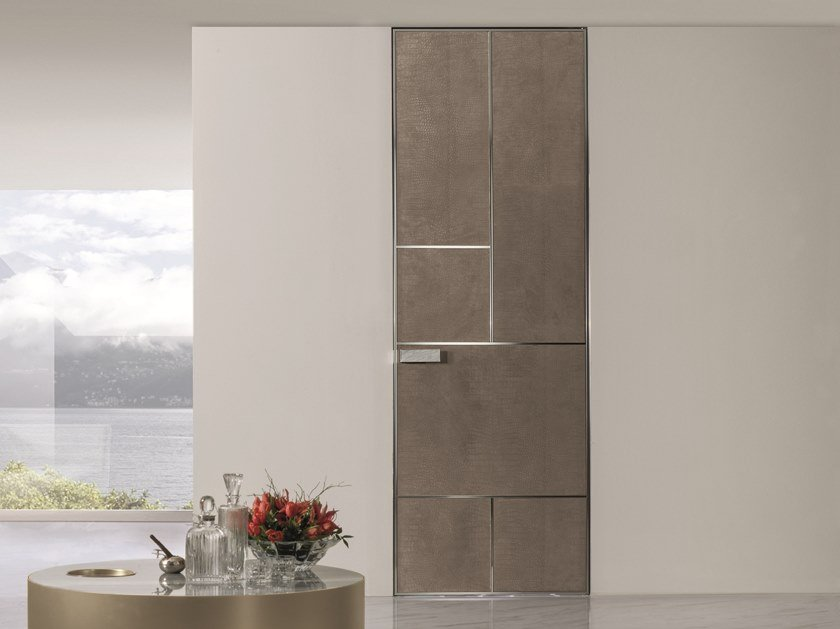 Hinged leather door LAND | Leather door by Longhi