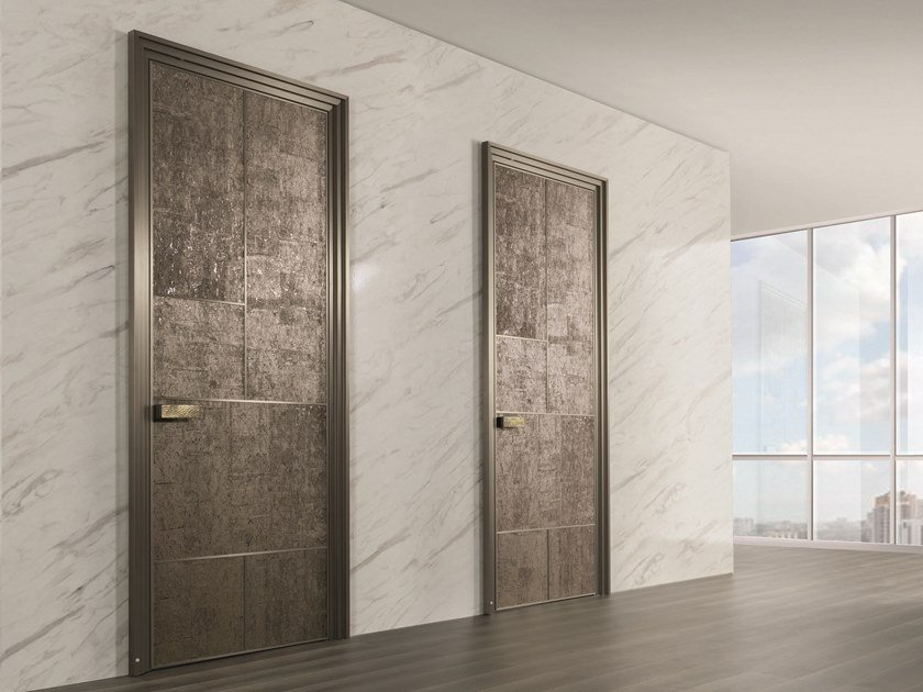 Hinged cork door LAND | Wood-product door by Longhi