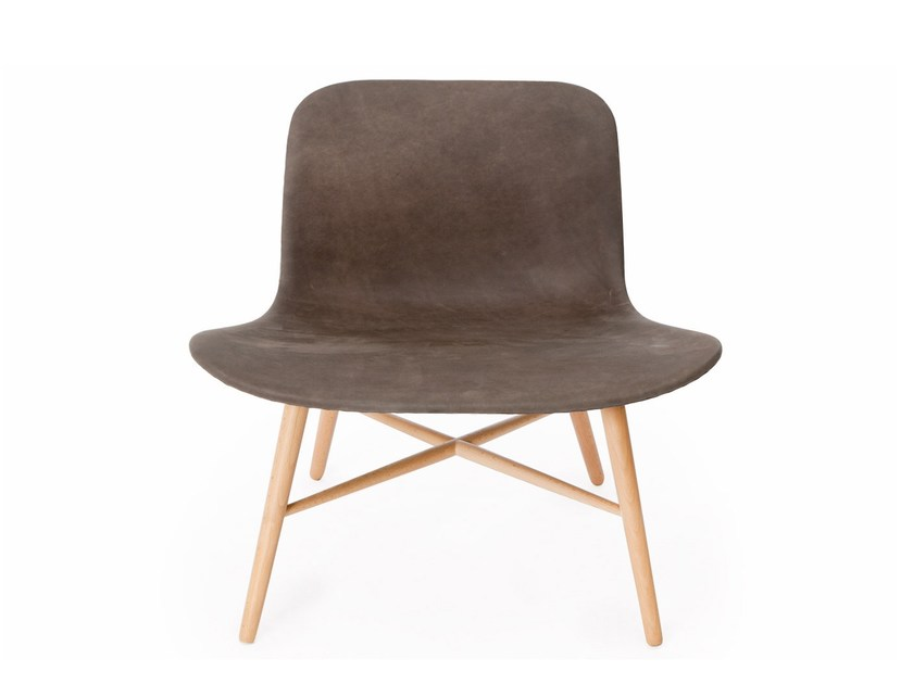 Leather easy chair LANGUE ORIGINAL NATURAL by NORR11