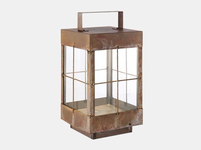 Lampada da terra per esterno in ferro LANTERNA 266.11.FF by Il Fanale