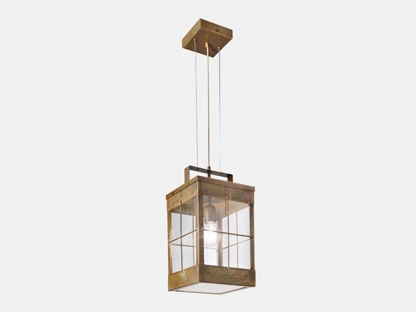 Lampada a sospensione per esterno in ottone LANTERNA 266.17.OO by Il Fanale